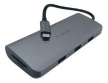 CABO ADAPTADOR TIPO C X USB 3.0 X VGA F X HDMI F X RJ-45 F IT BLUE