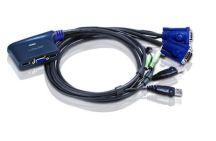 CHAVEADOR KVM ELETRON 2X1 CABO USB ATEN CS-62U