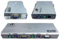 CHAVEADOR KVM ELETRON  4X1 S/CABO    GTS