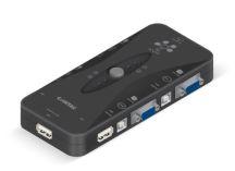 CHAVEADOR KVM ELETRON USB 4X1 S/CABO COMTAC