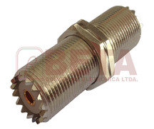 CONECTOR UHF DUPLA FEMEA C/ROSCA