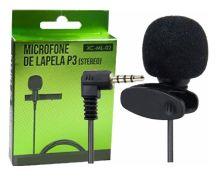 MICROFONE DE LAPELA P-3 X-CELL XC-ML-02